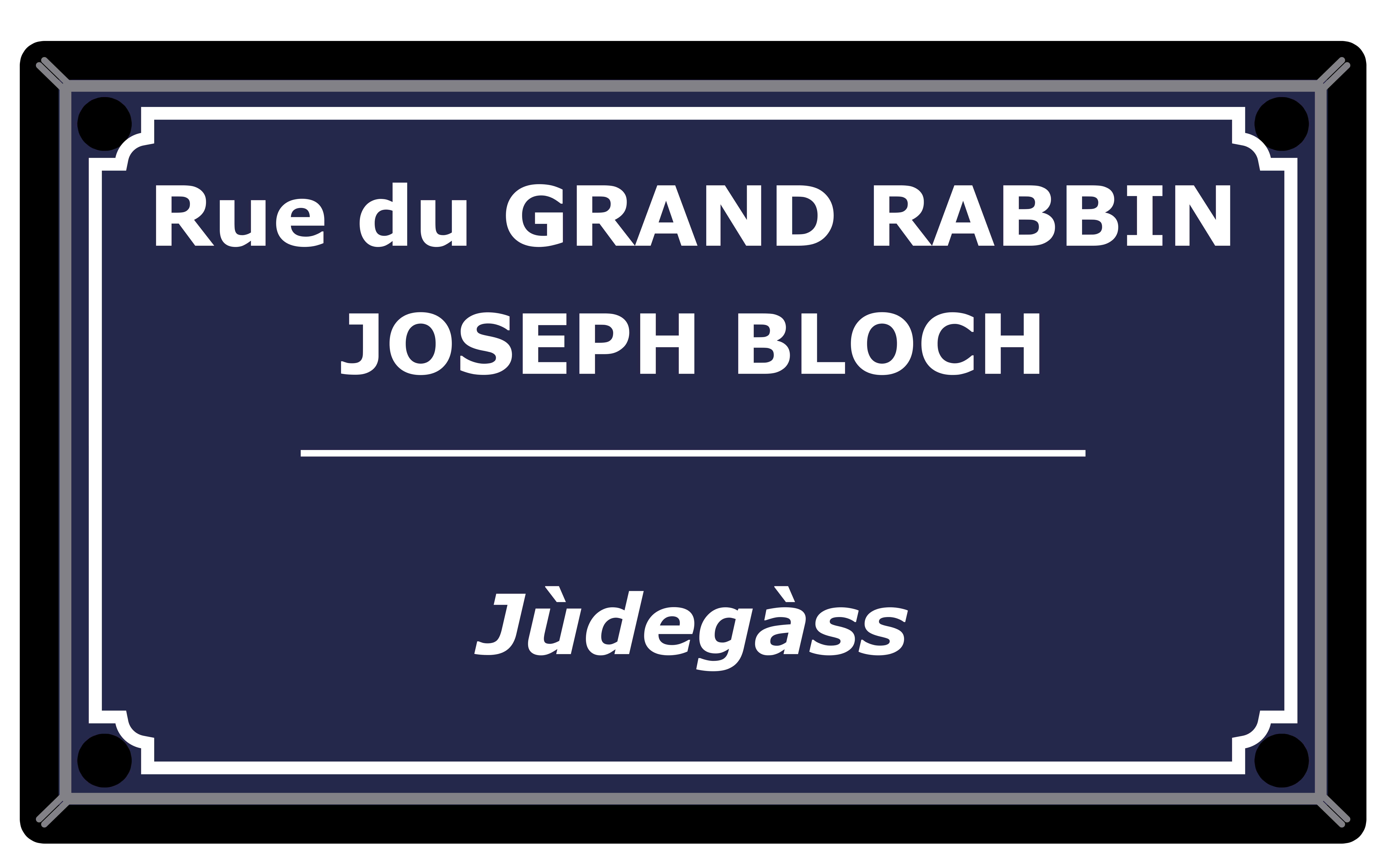 RUE GRAND RABBIN JOSEPH BLOCH